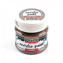 Farby-laky - Akrylová farba matná 50 ml- vintage hnedá - 10399138_