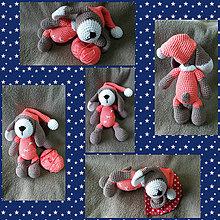 Hračky - Spinkáčik v lososovom pyžamku - 10398270_