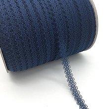 Galantéria - čipka modrá 15mm - 10398392_