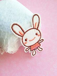 Galantéria - nažehľovačka slečna zajačik - 10398453_