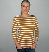 Tričká - Hořčicové s bílou..S - XXL...( M - ihned ) - 10398494_