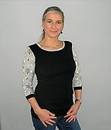 Tričká - Černé s houbičkami..S - XXL...( M - ihned ) - 10398610_