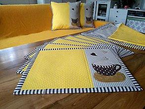 Úžitkový textil - Priestieranie Kávička - v žltej - 10399675_