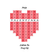 Grafika - Srdce -meno na želanie s komplimentmi - ružové - 10401549_