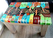 Nábytok - maľovaný konferenčný stolík - 10399311_