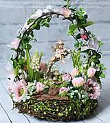Dekorácie - Vílí aranžmán v ružovom / Tajomná Záhrada - 10400696_