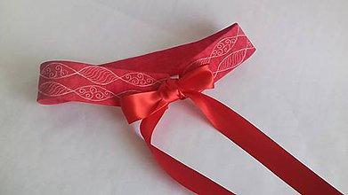 Opasky - Opasok červený-quiltovaný II. - 10398266_