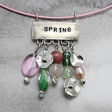 Náhrdelníky - Jar - náhrdelník - 10399765_