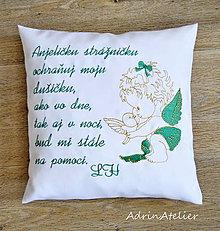 Textil - vankúšik vyšívaný - 10398717_