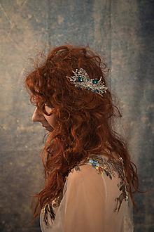 "Ozdoby do vlasov - Glamour hrebienok ""diamanty noci"" - 10398302_"