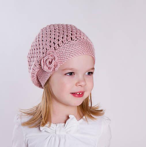 Úžasná ~ háčkovaná baretka / čiapka