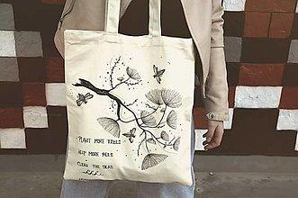 Nákupné tašky - Nákupná taška- na lesnú nôtu - 10398703_