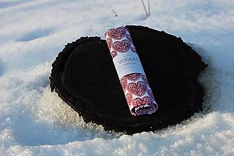 Úžitkový textil - Voskovaný obrúsok 33x33cm (srdcovka) - 10401384_