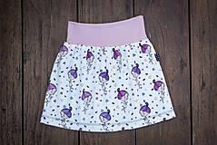 Na slnku zmení farbu - Kúzelná sukňa vzor Dievčatko
