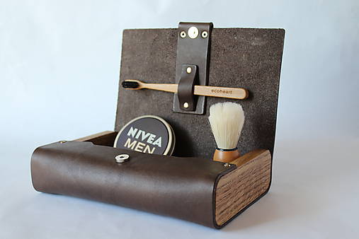 Originálna kozmetická taška z pravej kože - Media