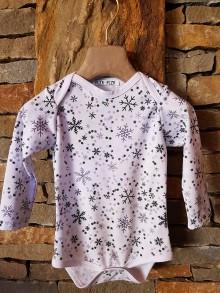 Detské oblečenie - Detské termo body Vločky s kryštálmi PRECIOSA - 10400882_