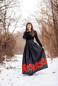 Sukne - Dámska sukňa dlhá-Divé maky - 10400674_