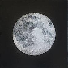 Obrazy - Strieborný mesiac - 10400584_