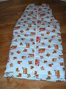 Textil - spací vak- otvor na nohy - 10401624_