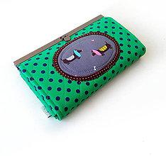 Peňaženky - Peňaženka s priehradkami Jazvečíci 19 cm - 10400384_