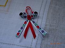 Pierka - Svadobné pierko červené srdiečka - 10398704_