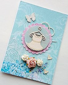 Papiernictvo - blahoželanie pre dievčatko - 10398189_