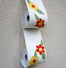 Úžitkový textil - Kvety - zásobník na TP - 10397759_