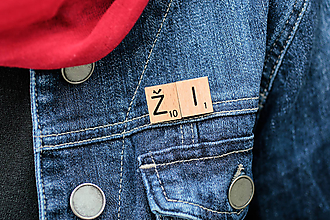 Odznaky/Brošne - Povedz to brošňou - Ži - 10400402_