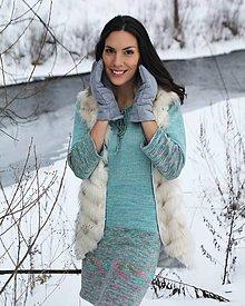 Šaty - Pletené šaty z buretového hodvábu - 10400851_