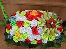 Dekorácie - Kvetinový kôš - výpredaj. - 10401701_