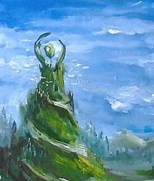 Obrazy - • Kameň bytia • /maľba akrylom/ - 10399121_