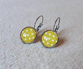 Náušnice - Francúzske bodkované náušnice žlté (nerezová oceľ) - 10398576_