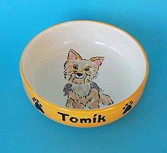 Pre zvieratká - Miska pre psa s menom - yorkie - 10401666_