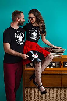 Tričká - Tričko STRELEC & STRELENÁ /biela - 10400655_