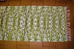 Úžitkový textil - Tkaný koberec bielo-zeleno-sivo-čierny - 10401535_