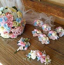 Kytice pre nevestu - svadobná sada na želanie... - 10399721_