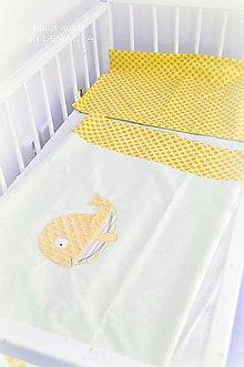 Textil - Obliečky žlté 40x60/100x135cm Kolekcia Rybka - 10402498_