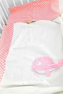 Textil - Obliečky lososové 40x60/100x135cm Kolekcia Rybka - 10402503_