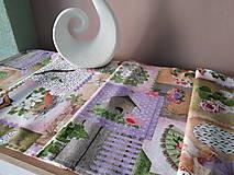 Úžitkový textil - Velkonočný stredový obrus (Jarný Vintage štýl) - 10402955_