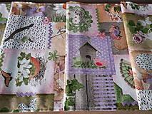 Úžitkový textil - Velkonočný stredový obrus (Jarný Vintage štýl) - 10402956_
