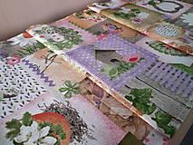 Úžitkový textil - Velkonočný stredový obrus (Jarný Vintage štýl) - 10402957_
