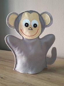 Detské doplnky - Maňušky (Opička) - 10403141_