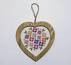 Obrázky - Výšivka Srdce v ružovej - 10402495_