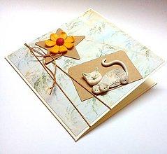 Papiernictvo - Príbeh o mačičke ... pohľadnica - 10405255_