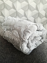 Textil - Minky Luxe Cuddle® Hide Silver - 10404173_