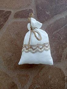 Úžitkový textil - Vrecúško na levanduľu 27 - 10404298_