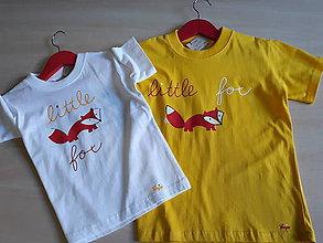 """Detské oblečenie - Tričko """"little fox"""" - 10405207_"""