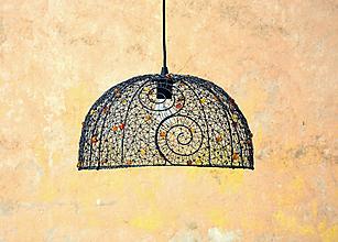 Svietidlá a sviečky - Karamel. Drátovaný lustr. - 10404398_