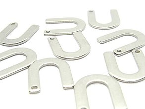 Komponenty - Písmeno U /M8023/ - nerezová oceľ 304 - 10404131_
