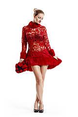 Šaty - Koktejlové šaty MERLOT - 10404776_
